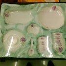 Chinese Magnesia Porcelain Dinnerware Set  38 PCS Red Rose 01