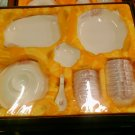 Chinese Magnesia Porcelain Tableware Set 38 PCS Rose 02