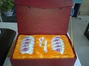 Chinese Magnesia Porcelain Dinnerware Set  20 PCS Flower 01