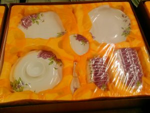 Chinese Magnesia Porcelain Tableware Set 38 PCS Floral 04