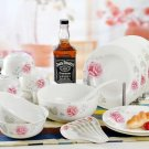 Fine Bone China Dinnerware Set 28PCS Rose and Love Wedding Gift