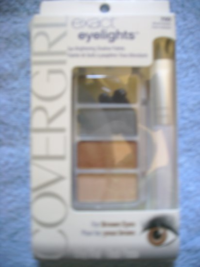 CoverGirl Exact Eyelights Shadow Palette Eye Shadow  Vibrant Browns 700 for brown eyes