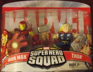 MARVEL Super Hero Squad IRON MAN and THOR unopened