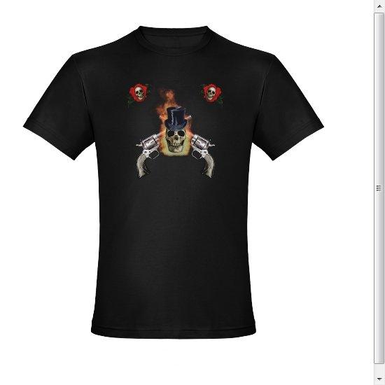 DGR Death,Gun's,Roses Black Fited T-shirt