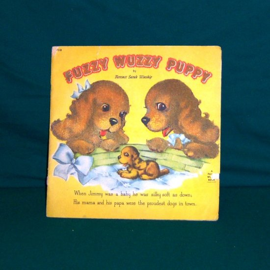 Vintage Children's Book Fuzzy Wuzzy Puppy by Whitman Publishing Co. 1946