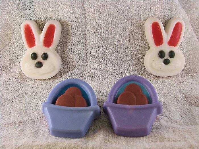 Easter Basket & Bunny Soap Set