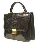Genuine Crocodile Leather Black For Men