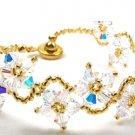 Floral Sparkling White Crystrals Bracelet