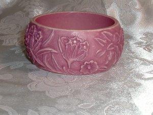 Vintage Two Tone Pink Summer Bangle Bracelet