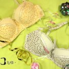 2 Cute Floral Lace Convertible Bras White Yellow 34A 75
