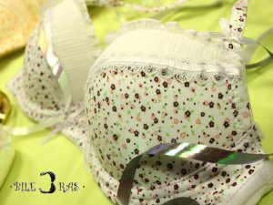 2 Cute Floral Lace Convertible Bras White Yellow 36A 80