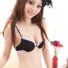 Black Lace T-Shirt Bra Set Seamless Convertible 34A 75A