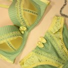Lolita Maid Collection Green Stripes Bow Bra Set 32B 70