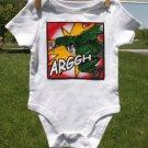 ARRGH Super Hero Onesie size 3-6 months