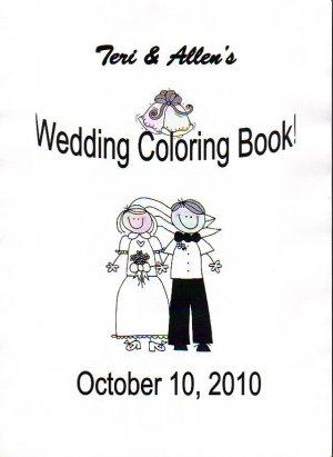 Wedding Coloring Activity Books Custom Made