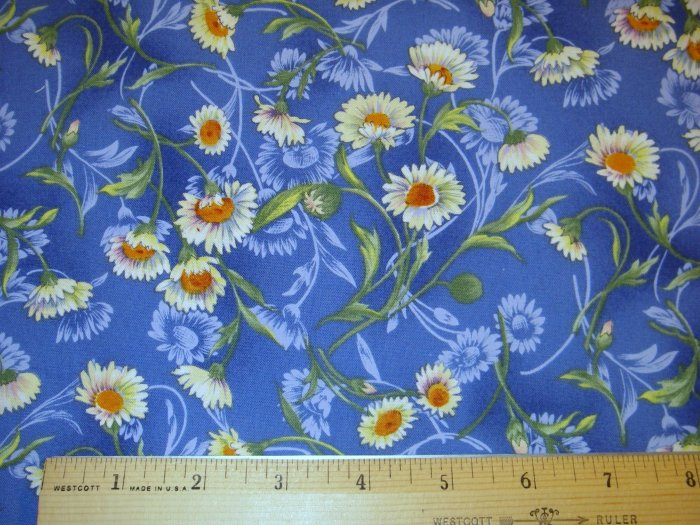 1.875 yard - Northcott Upsy Daisy fabric - Ro Gregg - Large Flowers