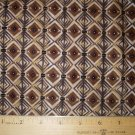 1.5  yard - African Brown Diamond design fabric