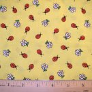 1.5 yard -  Yellow with Ladybugs - Lady bugs