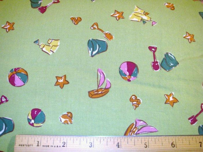 1.97 yard - Green Beach fabric - Piece #2