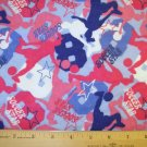 1 yard -  Soccer Star Girl - Snuggle Flannel fabric - Piece #1