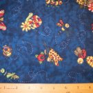 1 yard -  Busy Bugs on Navy Blue - Snuggle Flannel fabric