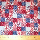 1.33 yard - VIP Cranston Printworks - Red, White and Blue squares fabric