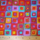 1 yard - Bright Squares fabric - Log cabin quilt look