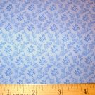 1.25 yard - Light Blue background with Reproduction Print in Blue- Tone on Tone fabric
