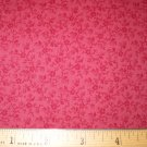 1.33 yard - Red Calico on Red fabric - Tone on Tone