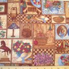 7/8 yard - Country Home by Anna Krajewski - Warm browns and country tones on fabric - Piece # 1