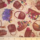 1 yard - Country Home Coordinate with Baskets - Anna Krajewsk - Warm Browns and country tones
