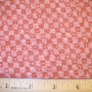 7/8 inches -  Rose and Mauve Checkerboard print fabric