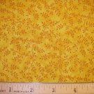 1.5 yard - Gold moddled fabric with dark gold vines