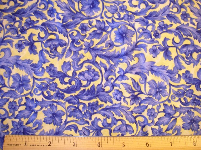 1 yard - Northcott - Quest for a Cure - High Tea for Two fabric - # 2285 - Ro Greg