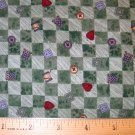 1.25 yard - Debbie Mumm - Buttons and Thread Coordinate - Green checkerboard fabric - Piece #2