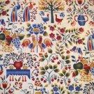 1 yard - Peaceable Kingdom - American Folks Art Museum Fabric - Off white, folk art designs