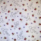 1.33 yards - Love Blooms Here - Leanne Anderson - Love, tiny hearts, dots all over white fabric