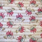 1 yard - Tan fabric with French horns and music notes