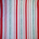 1 yard - Red and Green Holiday stripe fabric
