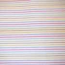 1 yard - White with multi stripe fabric