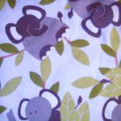 1.4 yard - Pale blue flannel with grey elephants and leaves