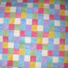 1 yard - Small Pastel Squares on fabric