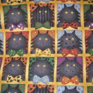 1 yard - Debbie Mumm Scaredy Cat fabric - Cats on squares - South Seas Import Fabrics
