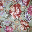 2/3 yard - Northcott Green floral fabric