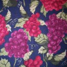 1.75 yard - Grapes on Navy Blue fabric