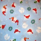 1 yard - Cardinals on light blue fabric