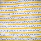 3/4 yard - Yellow and blue checkerboard flower coordinate fabric