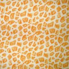 1 yard - Giraffe fabric - orange and yellow print