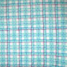 1 yard - Aqua plaid fabric