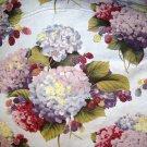1.125 yard - Hydrangeas on pale lilac/blue fabric - Michael Miller fabrics